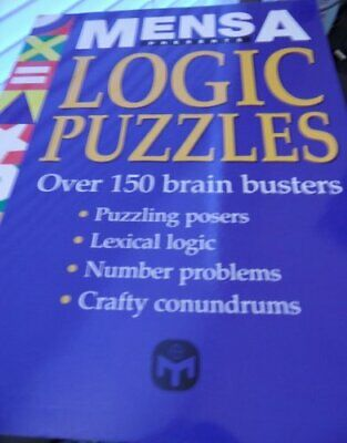 Mensa Logic Puzzles by Book Sales, Inc. Book The Cheap Fast Free Post
