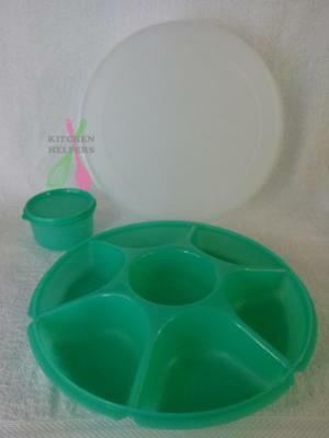 Tupperware Alfresco Large Serving Centre -New- Green