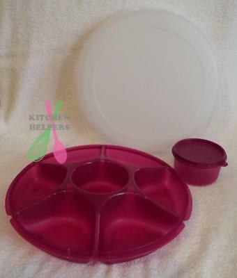 Tupperware Oceanic Serving Centre Large-New- Purple Rhubarb