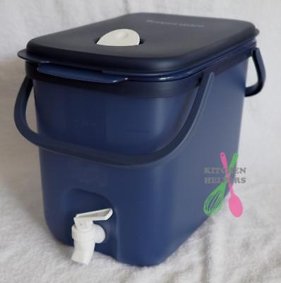Tupperware 10L Water / Drink Dispenser with handles - cosmos /navy blue -New