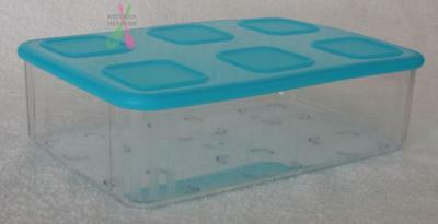 Tupperware Clear Mates Large Rectangle #2 -1.62ltr Blue -Set of 1 - New