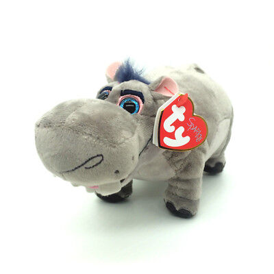 "Ty Beanie Babies 6"" Beshte Lion Guard Gray Hippo Soft Plush Animals Toy Gift"