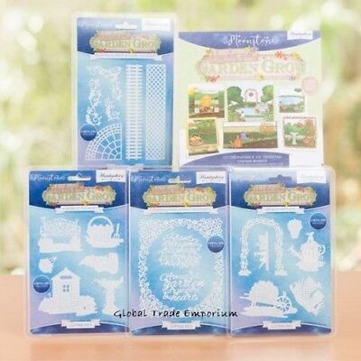 HUNKYDORY Moonstone HOW DOES YOUR GARDEN GROW Bundle ALL 4 Die Sets & Paper Pad