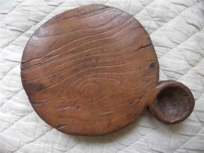 Beautiful Southern Indian Antique Hand Carved Solid Teak Chapati Bread Board