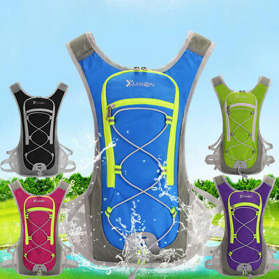 Sports Cycling Running Vest Camping Backpack Hydration Pack 2L Water Bladder Bag