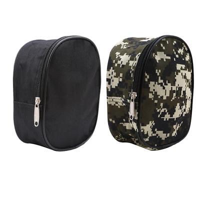 Camouflage Fishing Reel Cover Padded Mini Bag Pocket Fishing Tackle Pouch Case G