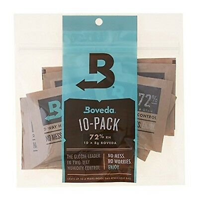 Boveda 72% Rh 2-Way Humidity Control, 8 g, 10 Pack 72% Rh Level