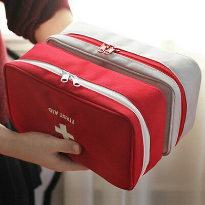 Empty First Aid Kit Pouch Home Office Medical Emergency Travel Rescue Case Bag