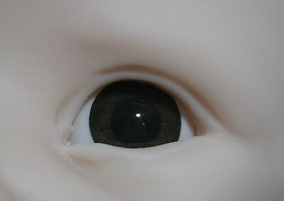 Reborn doll eyes 22mm Half Round  CHOCOLATE (large pupil)
