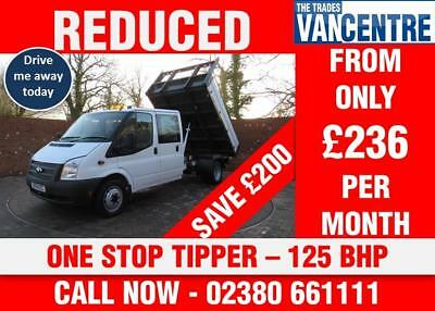 04e9d5081f49d9 Ford Transit 350 Doublecab One Way Tipper Lwb 125 Bhp One Stop Tipper 6  Seats