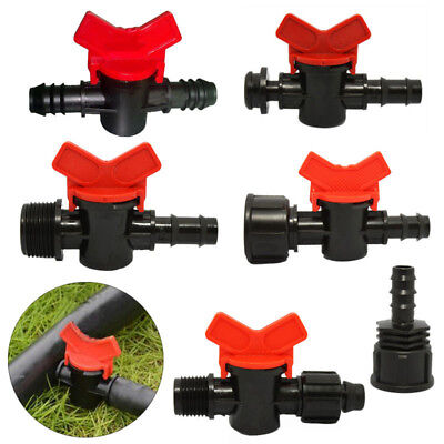 13mm Irrigation Valves Tap Off Take Adaptor Ball Garden Fitting Connector Switch
