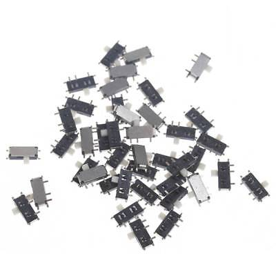 50Pcs Mini 7-Pin On/Off 1P2T SPDT MSK-12C02 SMD Toggle Slide Switch For MP3 MP4
