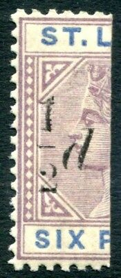 ST LUCIA-1891-92 ½d on half 6d Dull Mauve & Blue Sg 54 LIGHTLY MOUNTED MINT