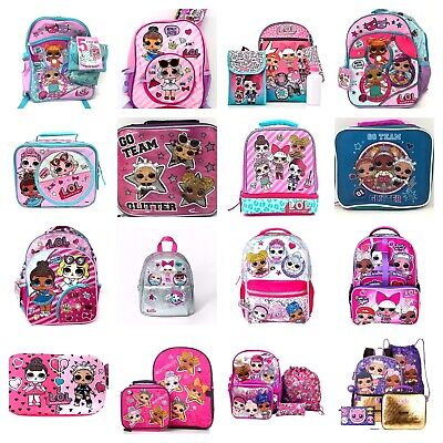 "MGA Licensed LOL Surprise Dolls 12"" Kids Small School Backpack Pink L.O.L Ball"