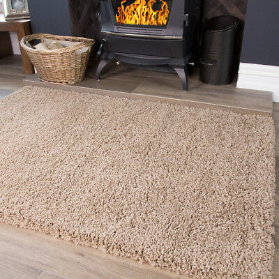 Light Brown Taupe Soft Modern Thick Shaggy Cheap Large Small Living Room Rug