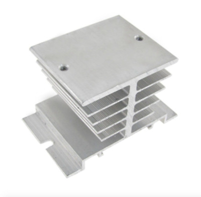 Uxcell New Aluminum Heatsink Heat Dissipation for Solid State Relay, SSR