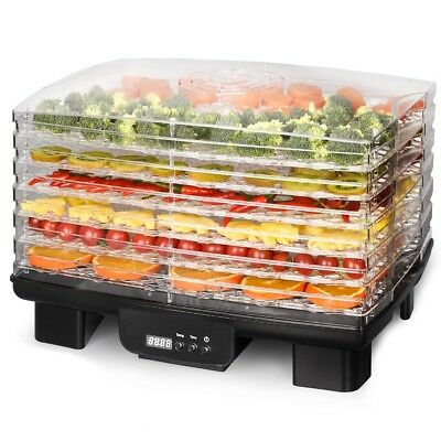 Home 6-Tiers Food Dehydrator Dryer with Adjustable Temperature Control & Timer