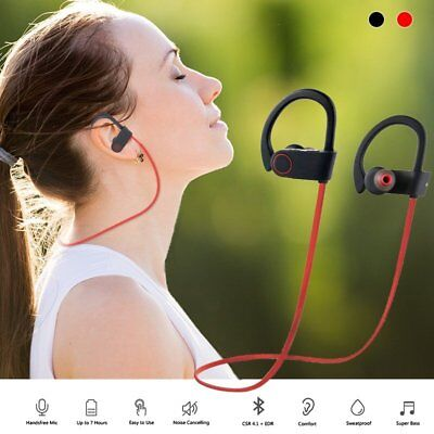 Bluetooth Earbuds Best Noise Cancelling Wireless Headphones Sport Gym Headset