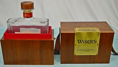 WISER'S Canadian Whiskey 150th ANNIVERSARY 1857-2007 Edition Wood Box/Bottle