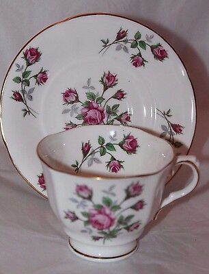 Vtg Sutherland H&M HM Bone China Made in England #1017 Tea Cup and Saucer