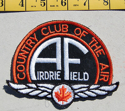 """Embroidered Badge """"Country Club of the Air"""" Airdrie Field, Alberta"""