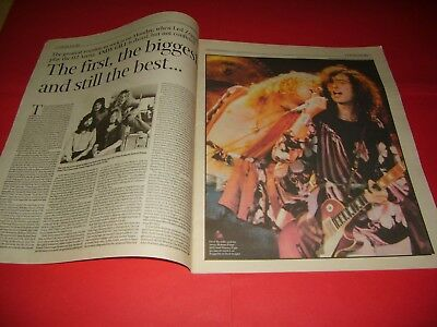 Led Zeppelin 2007 UK Independent Newspaper Supplement