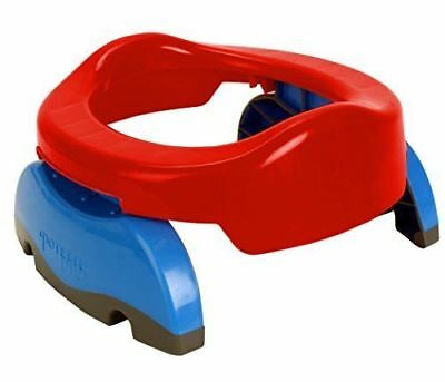 Potette Plus - Foldaway Portable Potty & Toilet Trainer Seat - BNIP - Red/Blue