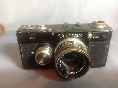 Zeiss Ikon Contax Ic With Cjz Sonnar 5Cm F2 With Leather Case