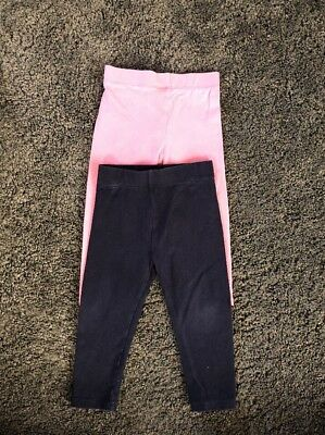 Next Baby Girls Leggings Navy And Pink Size 12-18 Months