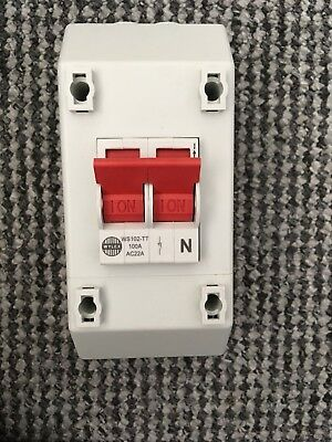 wylex 2 way isolator switch 100a rec2s bnib