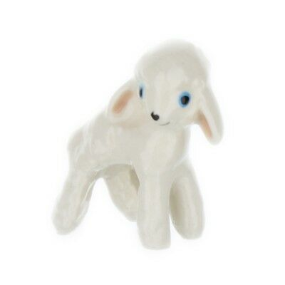 Wooly White Lamb Miniature Model Farm Animal Figurine USA Made by Hagen-Renaker