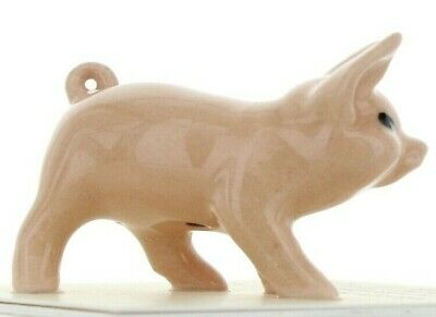 Pink Pig Walking Miniature Figurine Farm Animal Model USA made by Hagen-Renaker