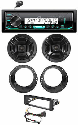1998-13 Harley Davidson FLHT FLHTC JVC Receiver+Polk Audio Speaker Upgrade Kit