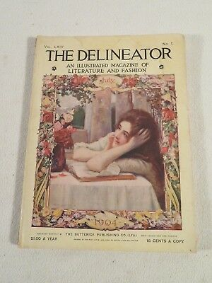 The Delineator Ladies Womens Fashion Magazine July 1904 ~ Cream of Wheat Ads