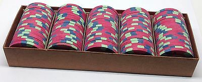 Set of 100 Aladdin $5 Casino Chips Las Vegas Nevada 1980 House Paulson Mold *