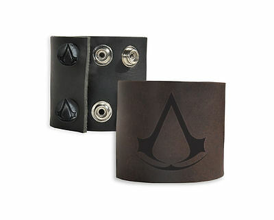 Assassins Creed Leather ( BLACK ) Wristband - BRAND NEW Bracelet Origins