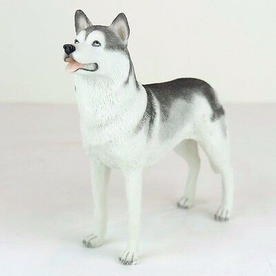 "Siberian Husky Dog - Collectible Figurine Miniature 6""L New in box"
