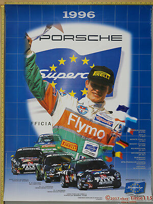"FreeShip 1996 Supercup Genuine Porsche Factory Showroom Poster Original 40"" x 30"