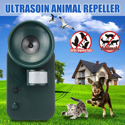 Motion Ultrasonic Pest Animal Repeller Repellent Cat Rats Dog Mouse Attacker AU