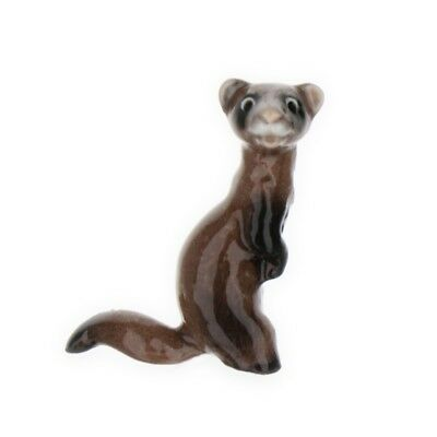 Ferret Standing Miniature Figurine Wildlife Model Made in USA by Hagen-Renaker