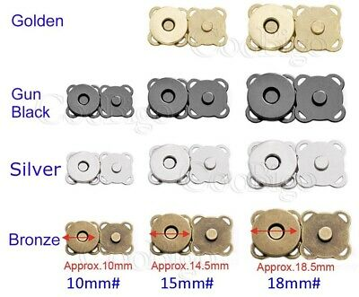 MAGNETIC CLOSURE FASTENER HANDBAG PURSE - METAL - sew in  - 18mm - 2 colours