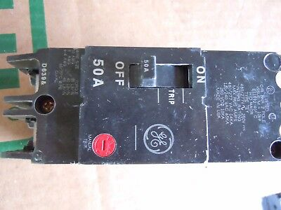 14 General Electric 50 Amp 2 Pole Breaker TEY250 480 VAC Bolt On 14 KAIC USA