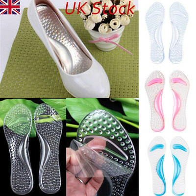 UK Silicone High Heel Gel Foot Arch Supports Shoe Cushion Insole Insert Pad Heel