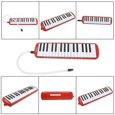 32 Piano Keys Melodica Musical Instrument for Beginner w/Carrying Bag Red K3B4