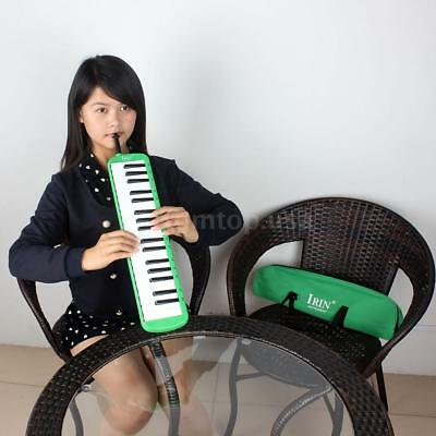 37 Piano Keys Melodica Pianica Musical Instrument with Carrying Bag Green O2P5