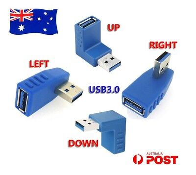 USB 3.0 M/F Highspeed Plug Connector Adapter Changer Left Right Angle Converter