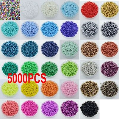 Wholesale 5000pcs 2mm Czech Glass Seed Round Spacer beads Jewelry Making SD