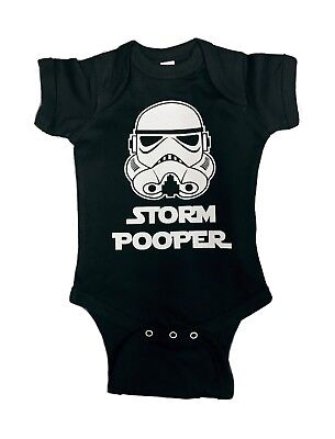 30a319a17 98-13 Storm Pooper Star Wars Cute Funny Baby Romper Bodysuits Sizes One  Piece