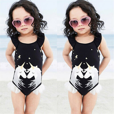 AU Kids Baby Girls Unicorn Bikini Set Swimwear Swimsuit Bathing Suit Beachwear