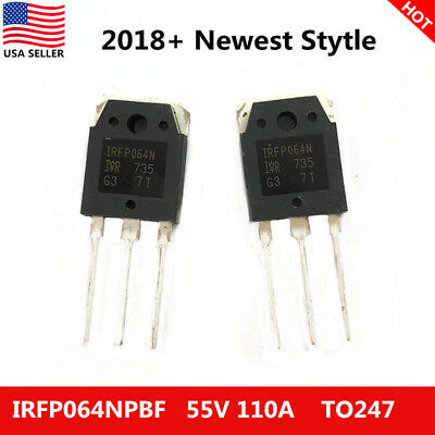 10x US New IRFP064N IRFP064NPBF Power MOSFET 55V 110A IR TO-247